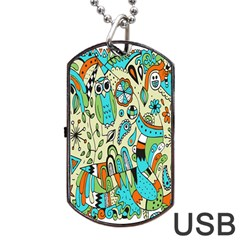 Animals Caterpillar Worm Owl Snake Leaf Flower Floral Dog Tag Usb Flash (one Side)