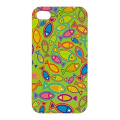 Animals Fish Green Pink Blue Green Yellow Water River Sea Apple Iphone 4/4s Hardshell Case by Alisyart
