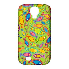 Animals Fish Green Pink Blue Green Yellow Water River Sea Samsung Galaxy S4 Classic Hardshell Case (pc+silicone)