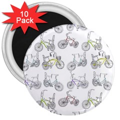 Bicycle Bike Sport 3  Magnets (10 Pack)  by Alisyart