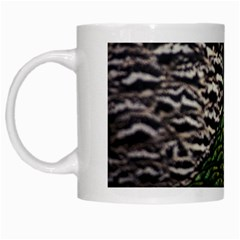 Bird Feathers Green Brown White Mugs by Alisyart