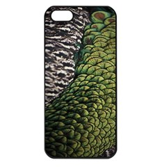 Bird Feathers Green Brown Apple Iphone 5 Seamless Case (black)
