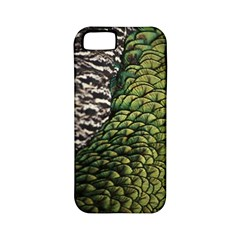 Bird Feathers Green Brown Apple Iphone 5 Classic Hardshell Case (pc+silicone) by Alisyart