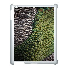 Bird Feathers Green Brown Apple Ipad 3/4 Case (white)