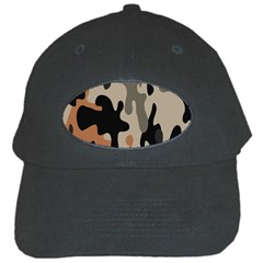 Camouflage Army Disguise Grey Orange Black Black Cap