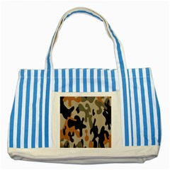Camouflage Army Disguise Grey Orange Black Striped Blue Tote Bag