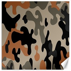 Camouflage Army Disguise Grey Orange Black Canvas 12  X 12   by Alisyart