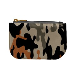 Camouflage Army Disguise Grey Orange Black Mini Coin Purses
