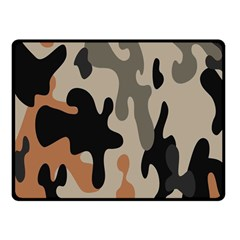 Camouflage Army Disguise Grey Orange Black Fleece Blanket (small)