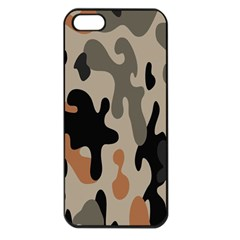 Camouflage Army Disguise Grey Orange Black Apple Iphone 5 Seamless Case (black)