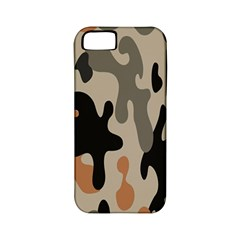 Camouflage Army Disguise Grey Orange Black Apple Iphone 5 Classic Hardshell Case (pc+silicone)