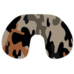 Camouflage Army Disguise Grey Orange Black Travel Neck Pillows