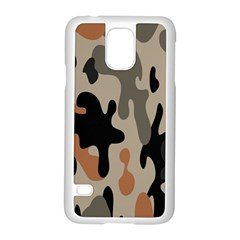 Camouflage Army Disguise Grey Orange Black Samsung Galaxy S5 Case (white)