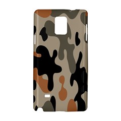 Camouflage Army Disguise Grey Orange Black Samsung Galaxy Note 4 Hardshell Case