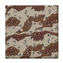 Camouflage Army Disguise Grey Brown Tile Coasters by Alisyart