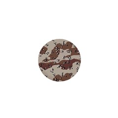 Camouflage Army Disguise Grey Brown 1  Mini Buttons by Alisyart
