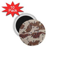 Camouflage Army Disguise Grey Brown 1 75  Magnets (10 Pack)