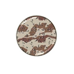 Camouflage Army Disguise Grey Brown Hat Clip Ball Marker (4 Pack)