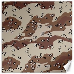 Camouflage Army Disguise Grey Brown Canvas 20  X 20