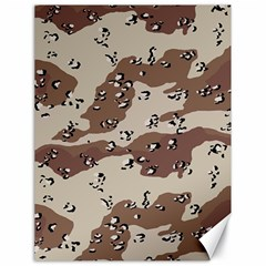 Camouflage Army Disguise Grey Brown Canvas 18  X 24