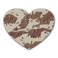 Camouflage Army Disguise Grey Brown Heart Mousepads