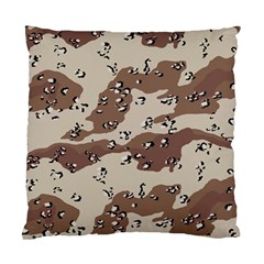 Camouflage Army Disguise Grey Brown Standard Cushion Case (one Side)