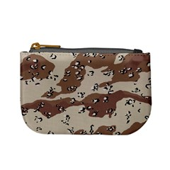 Camouflage Army Disguise Grey Brown Mini Coin Purses