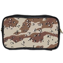 Camouflage Army Disguise Grey Brown Toiletries Bags 2 Side by Alisyart