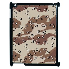 Camouflage Army Disguise Grey Brown Apple Ipad 2 Case (black) by Alisyart