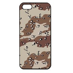 Camouflage Army Disguise Grey Brown Apple Iphone 5 Seamless Case (black)