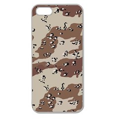 Camouflage Army Disguise Grey Brown Apple Seamless Iphone 5 Case (clear)