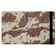 Camouflage Army Disguise Grey Brown Apple Ipad 3/4 Flip Case