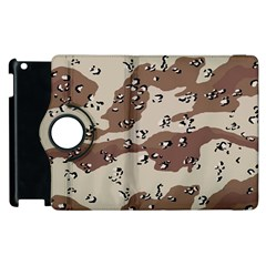 Camouflage Army Disguise Grey Brown Apple Ipad 2 Flip 360 Case by Alisyart