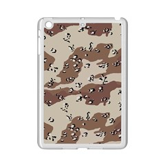 Camouflage Army Disguise Grey Brown Ipad Mini 2 Enamel Coated Cases