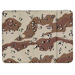 Camouflage Army Disguise Grey Brown Samsung Galaxy Tab 7  P1000 Flip Case