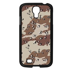 Camouflage Army Disguise Grey Brown Samsung Galaxy S4 I9500/ I9505 Case (black)