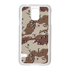 Camouflage Army Disguise Grey Brown Samsung Galaxy S5 Case (white)