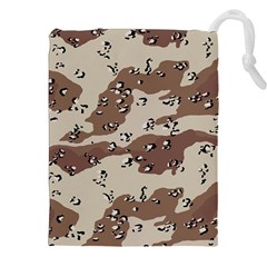 Camouflage Army Disguise Grey Brown Drawstring Pouches (xxl) by Alisyart