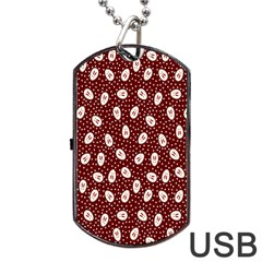 Animals Rabbit Kids Red Circle Dog Tag Usb Flash (one Side)