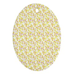 Branch Spring Texture Leaf Fruit Yellow Ornament (oval)