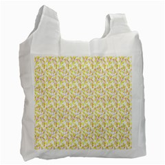 Branch Spring Texture Leaf Fruit Yellow Recycle Bag (one Side) by Alisyart
