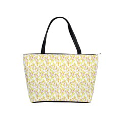 Branch Spring Texture Leaf Fruit Yellow Shoulder Handbags by Alisyart