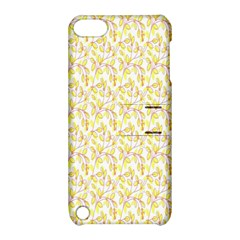 Branch Spring Texture Leaf Fruit Yellow Apple Ipod Touch 5 Hardshell Case With Stand