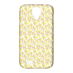 Branch Spring Texture Leaf Fruit Yellow Samsung Galaxy S4 Classic Hardshell Case (pc+silicone)