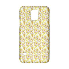 Branch Spring Texture Leaf Fruit Yellow Samsung Galaxy S5 Hardshell Case