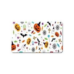 Candy Pumpkins Bat Helloween Star Hat Magnet (name Card) by Alisyart