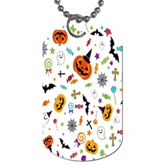 Candy Pumpkins Bat Helloween Star Hat Dog Tag (two Sides)
