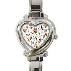 Candy Pumpkins Bat Helloween Star Hat Heart Italian Charm Watch by Alisyart