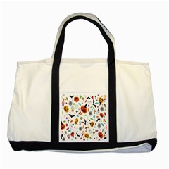Candy Pumpkins Bat Helloween Star Hat Two Tone Tote Bag by Alisyart