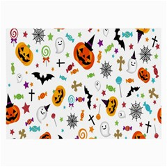 Candy Pumpkins Bat Helloween Star Hat Large Glasses Cloth (2 Side) by Alisyart